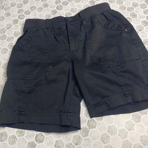 Croft & Barrow Sz 6 Black Elastic Waist Shorts